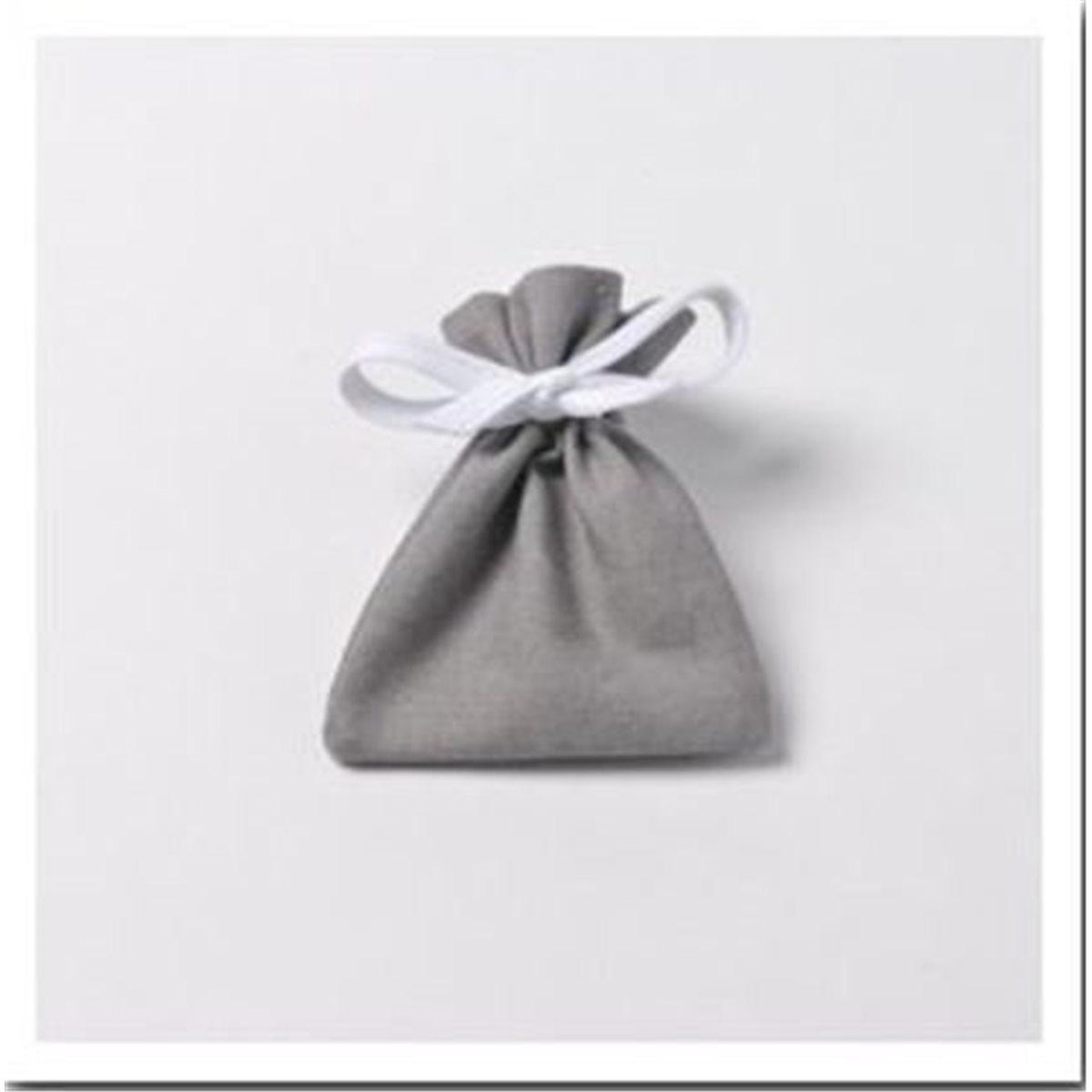 6 x Sachet Dragées Coton Gris