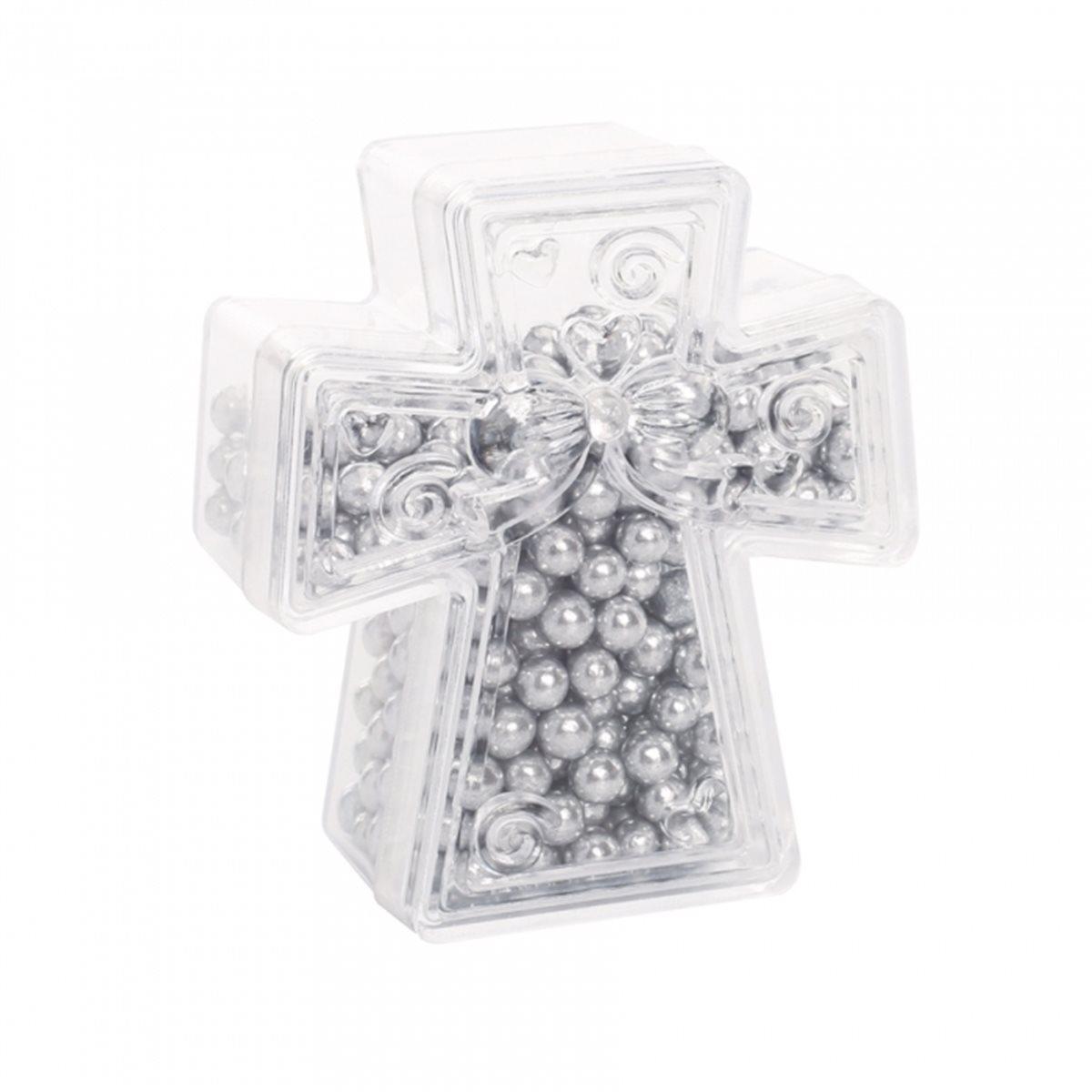 Contenant Dragées Croix Plexi x1