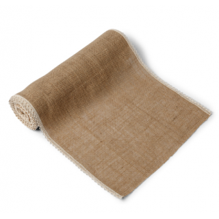 Chemin de table jute & dentelle 36 cm x 5 m