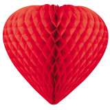 coeur alvéolé rouge