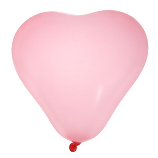 Ballon de Baudruche coeur Rose x 8