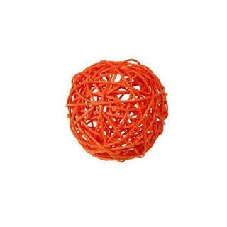 Boule rotin orange
