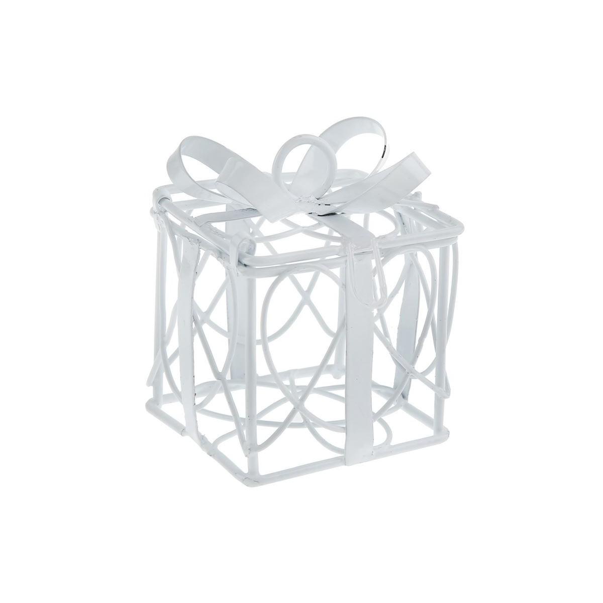 contenant dragées cube métal