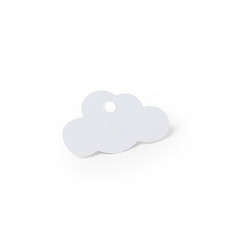 Étiquette dragées Nuage Blanc x 12