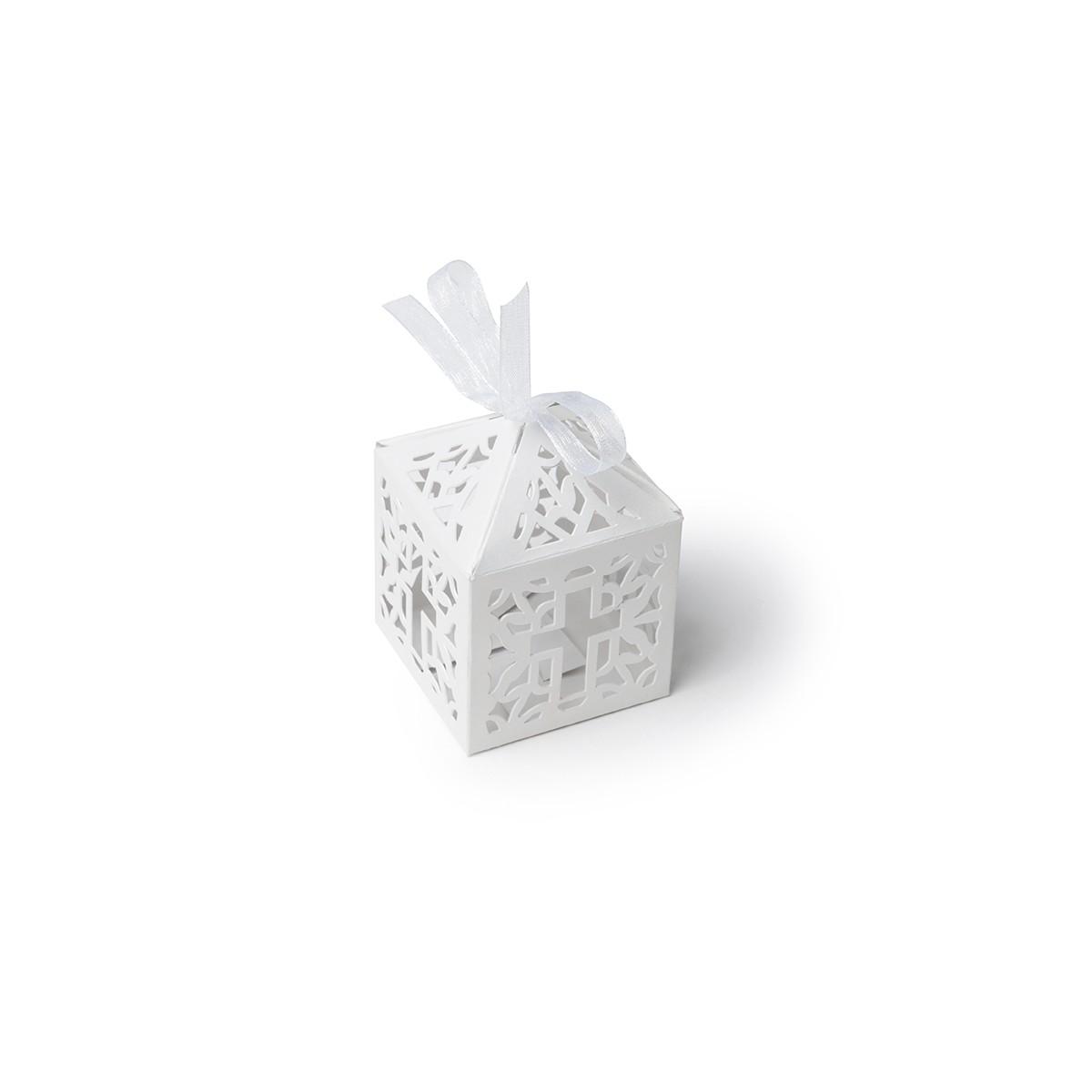 Contenant dragées carton croix x40