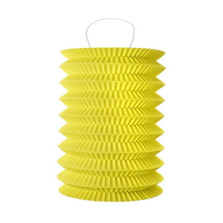 Lampion Accordeon Jaune x2