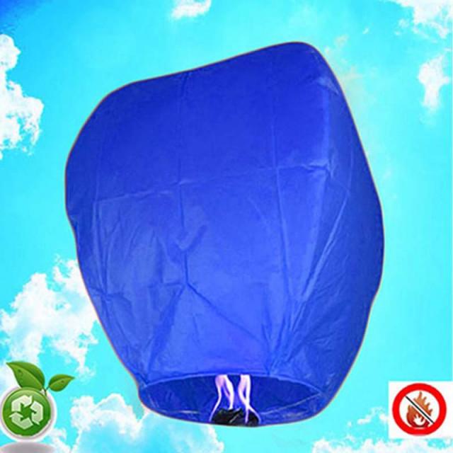 Lanterne Volante Biodégradable - Bleu