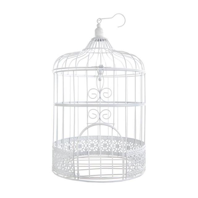 Cage Oiseau deco Blanc