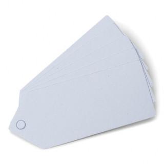 x24 étiquettes blanches perforées 5x2 cm