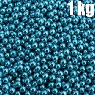 1 kg Dragées Perle Bleu Argenté