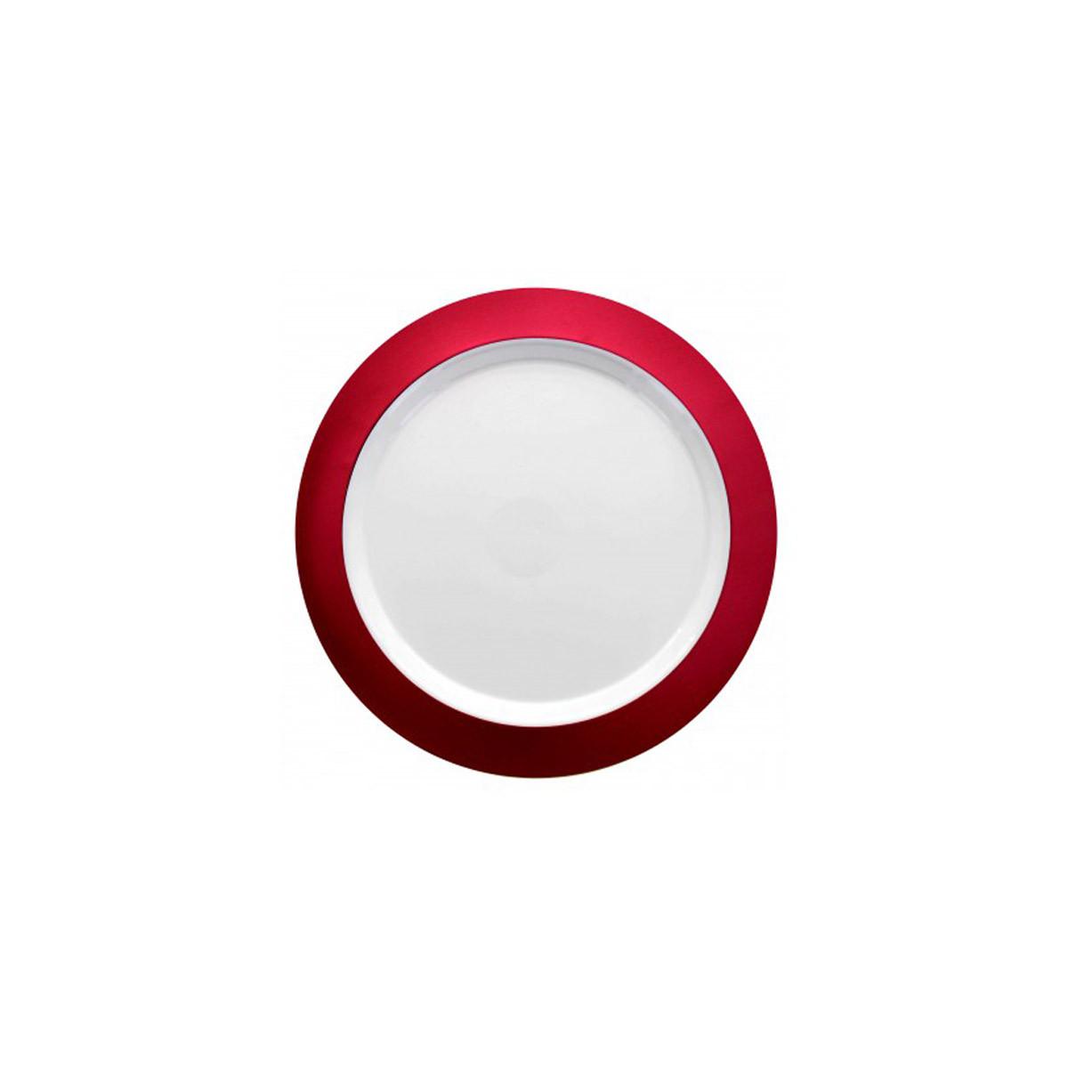 Assiette rouge 6 pcs