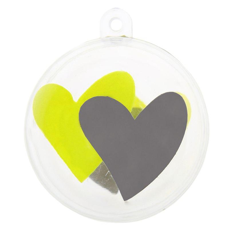 Boule dragées coeur vert x1
