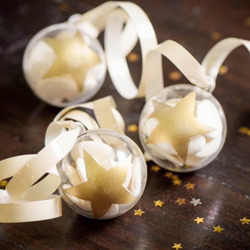 Boule dragées étoile or ou argent x 4