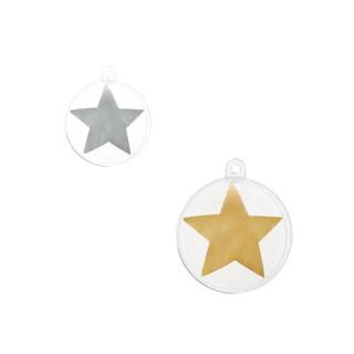 Boule dragées étoile or ou argent
