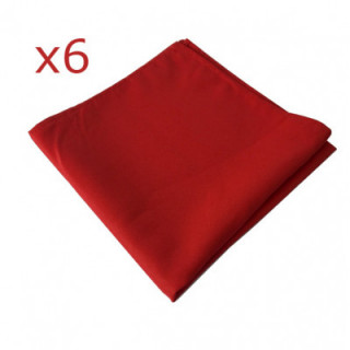 serviette-polyester-rouge