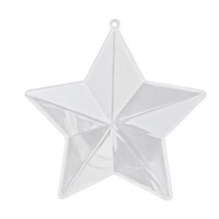Boite transparente étoile x1