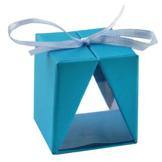 boite transparente bleu