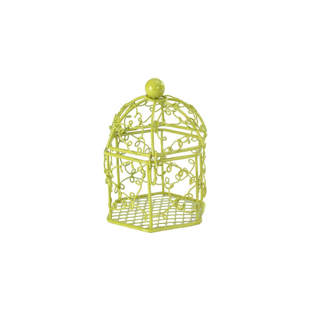 x2 contenant dragées en cage Vert ou Blanc