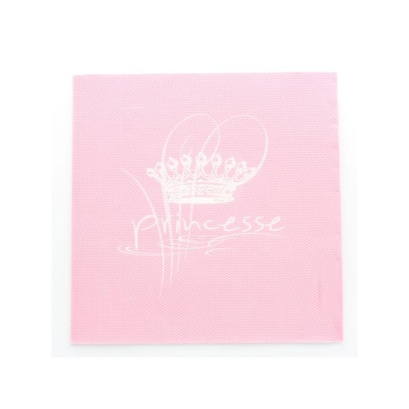 Serviettes Princesse Rose x20