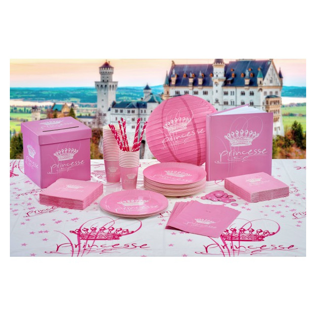 Assiettes Princesse Rose x10