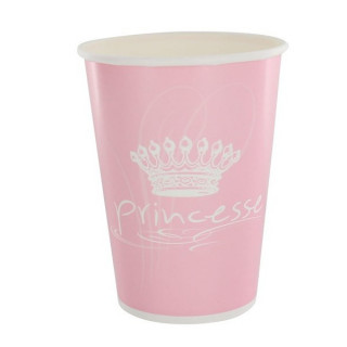Gobelet Princesse Rose x10