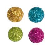 x50 boules pailletées décoration - 4 couleurs au choix