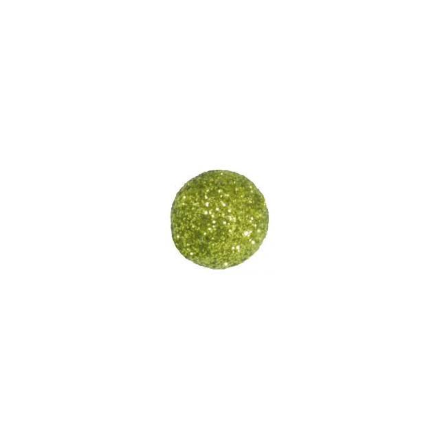 x50 boules pailletées décoration - vert