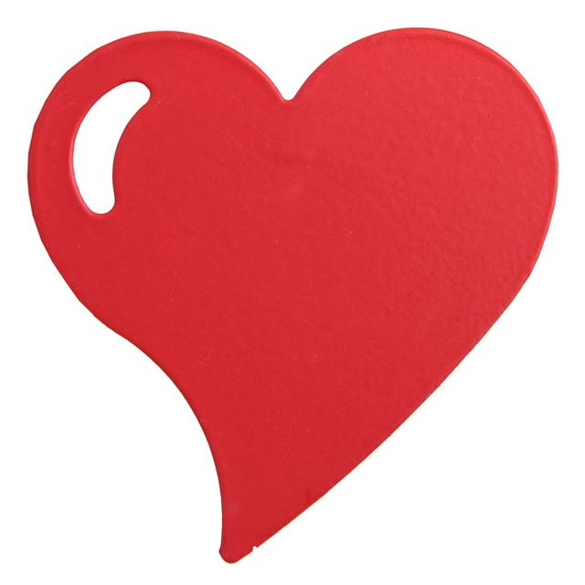 Pince Cœur métal x4