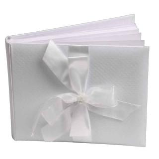 livre d'or damasse blanc