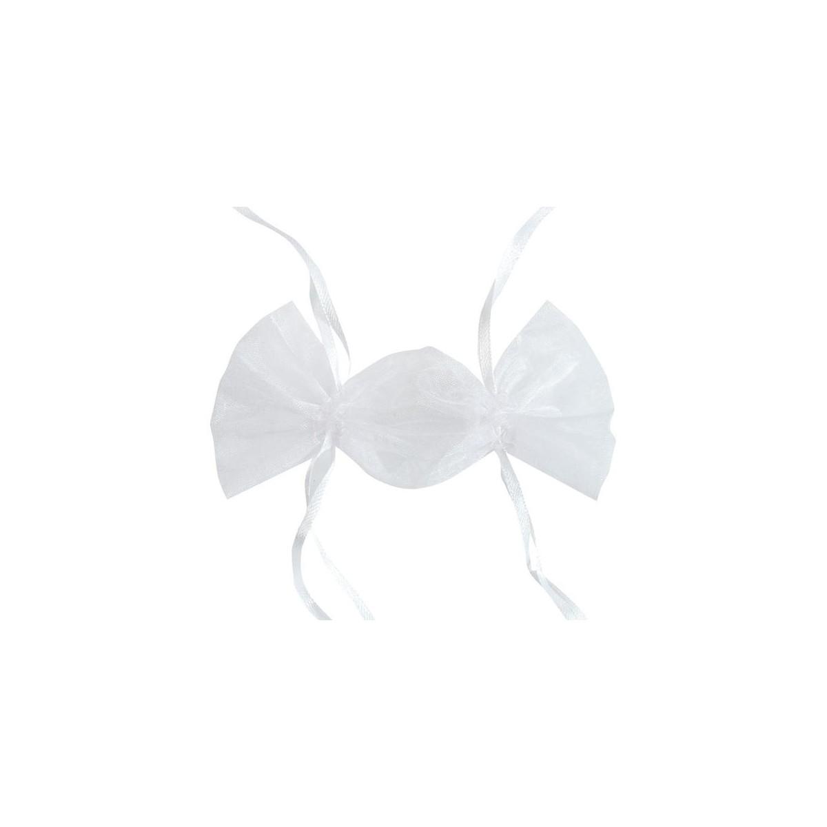 Sachet dragées bonbon x 6 - Blanc