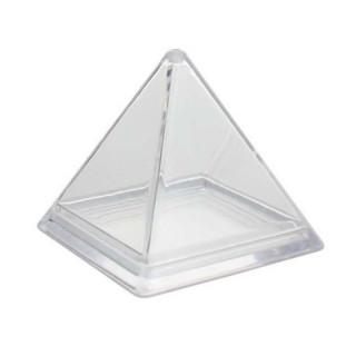 Contenant dragées Pyramide Transparente