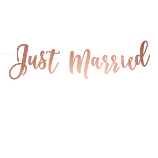 Guirlande Mariage Just Married rose Gold