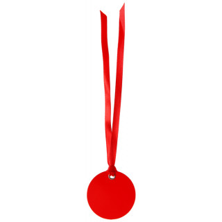 Etiquette Dragees Ronde Ruban x12 - rouge