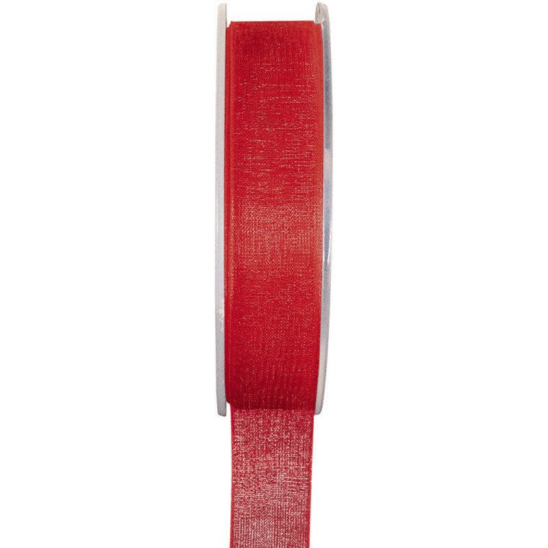Ruban Organdi rouge - 7 mm