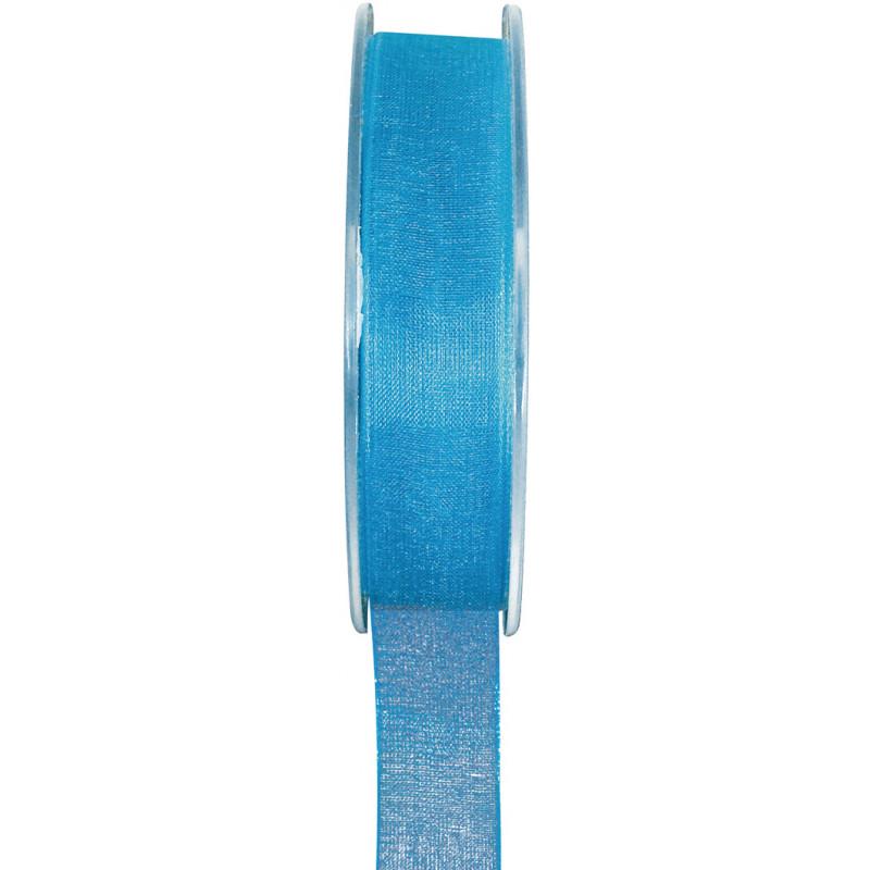Ruban Organdi turquoise - 7 mm
