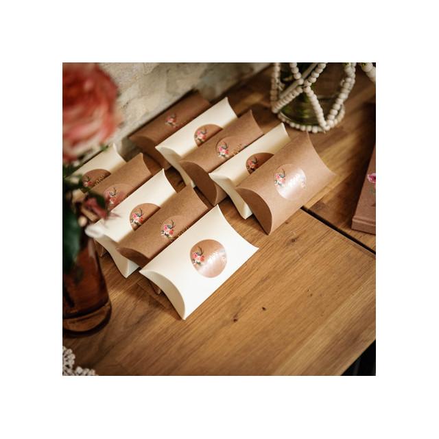 étiquette-autocollante-merci-folk-thème champêtre-fleurs