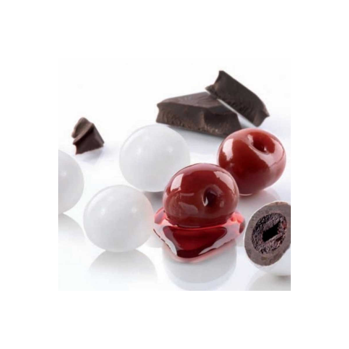 1kg Dragées Blanc - Cerise Confite Cacao