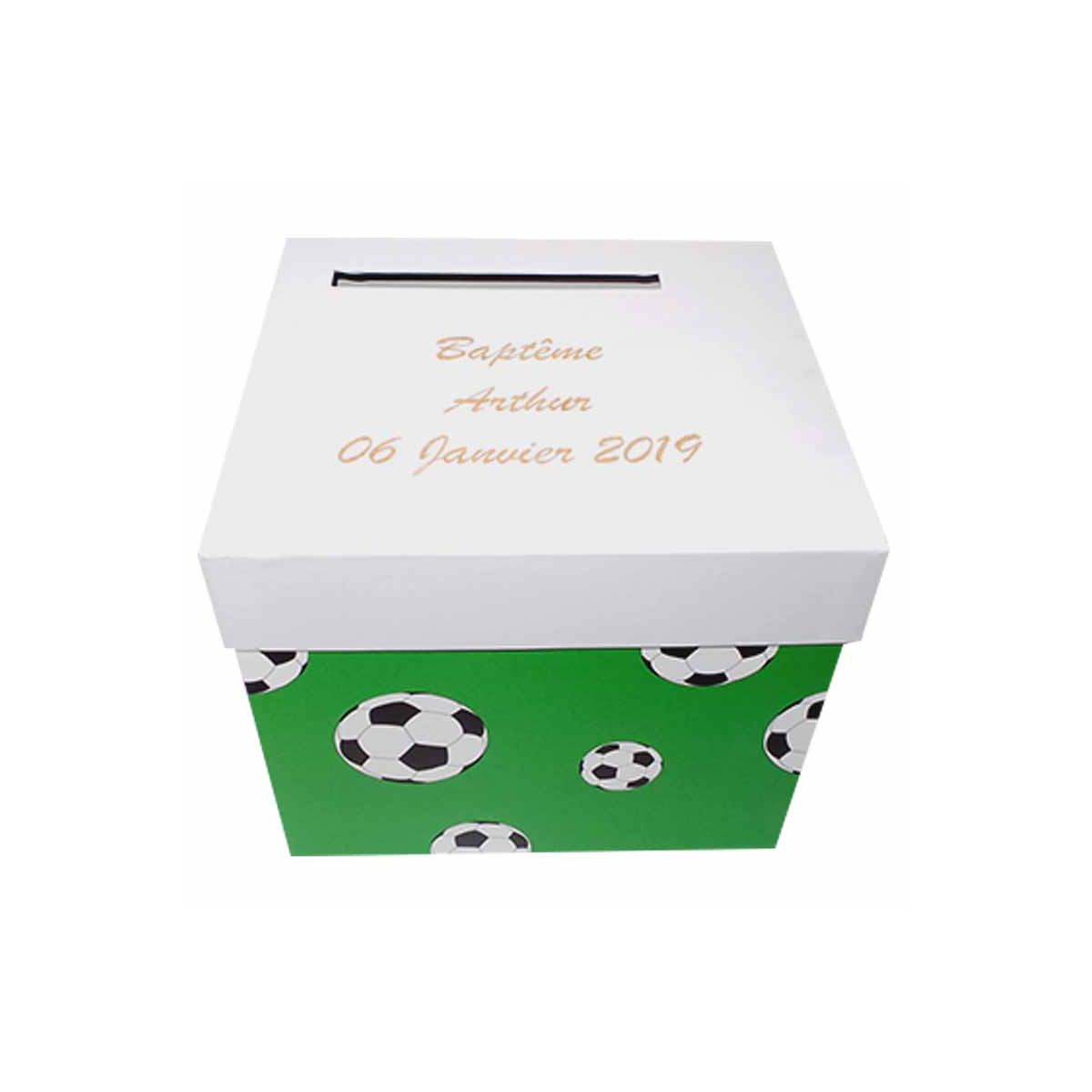 Urne personnalisée Verte Football