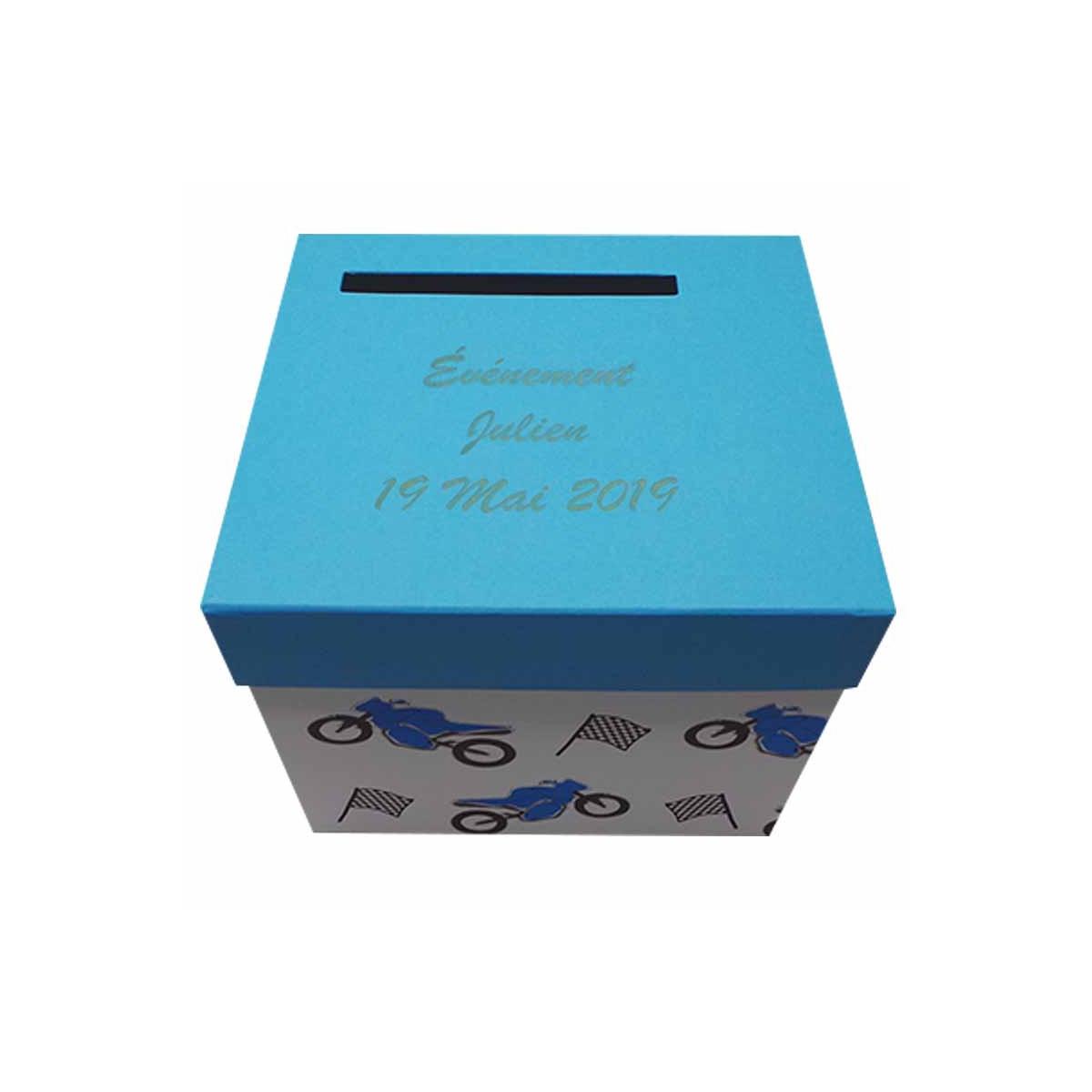 Urne personnalisée Bleu Thème Moto