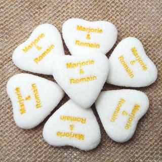 100x Bonbons Mariage Personnalisés Blanc