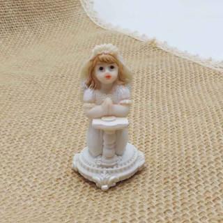 Figurine Communiante Pupitre Blanc