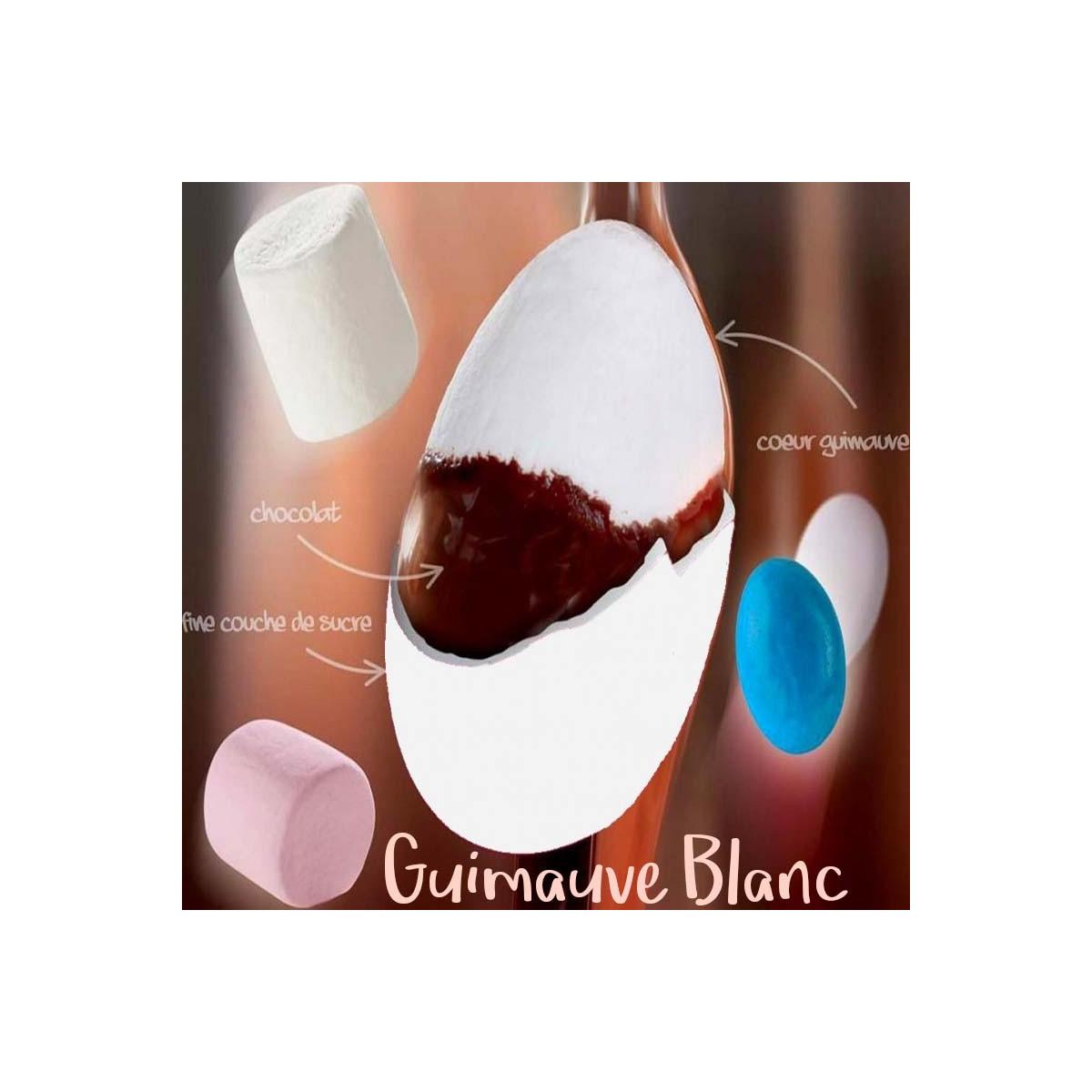 1kg - Dragées Guimauve Pécou - Blanc