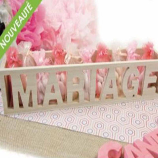 """Support Dragées """"Mariage"""" Bois"""