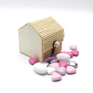 Boite de dragées en forme de Maison bambou