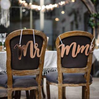 Suspension Mr et Mme - Rose Gold