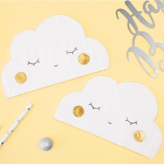 20 serviettes en papier nuage