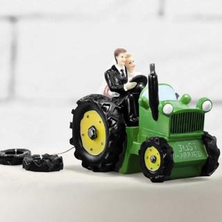 Figurine Mariage Tracteur