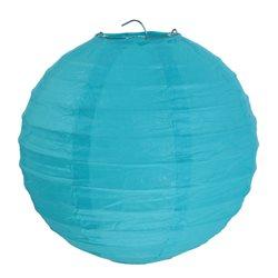 2 Lanternes papier turquoise