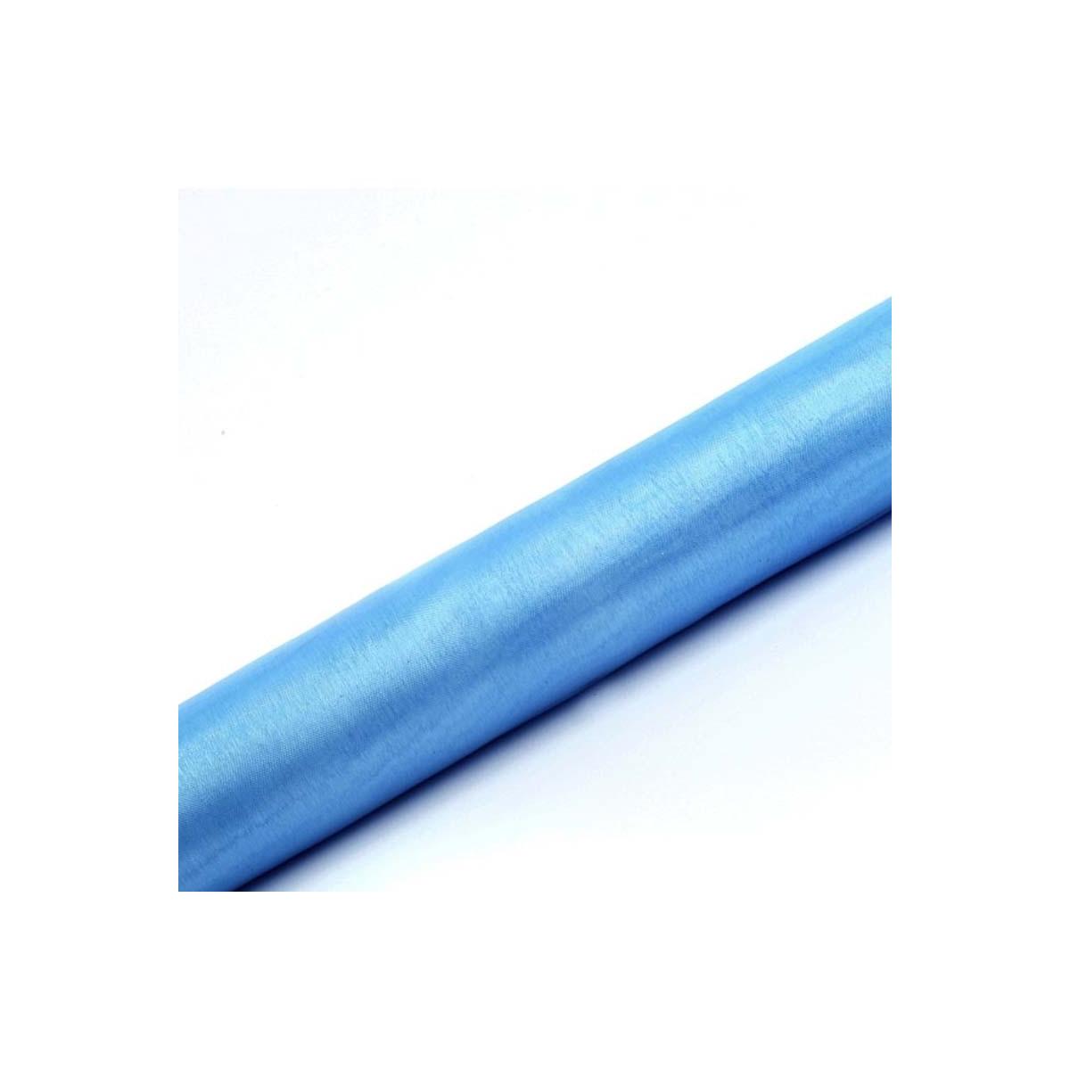 Chemin de table Organza Bleu