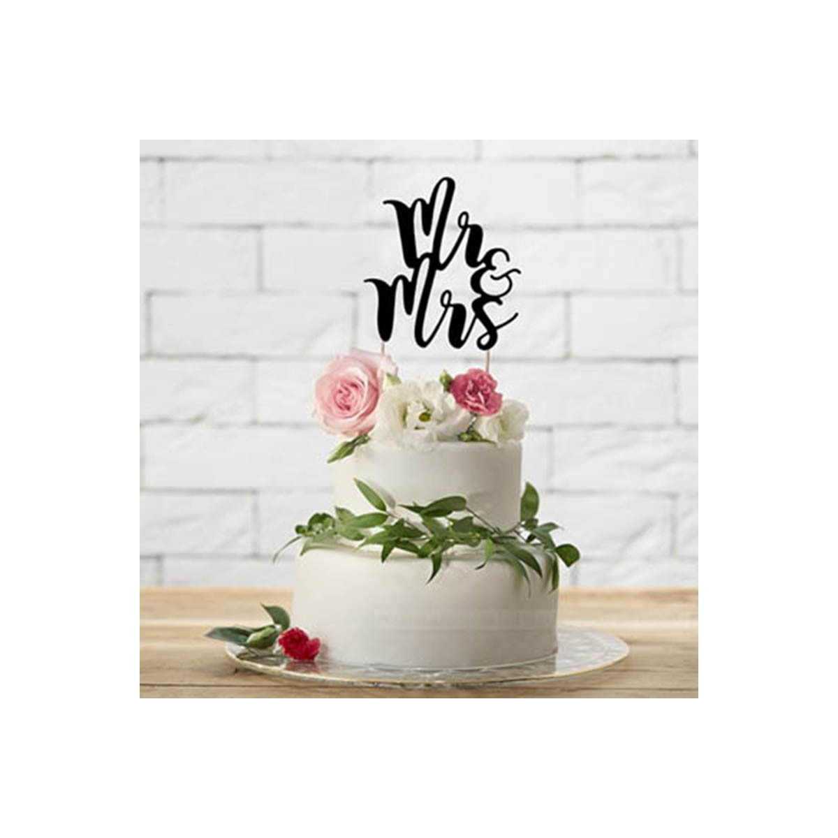 Cake Topper Mr & Mrs Noir